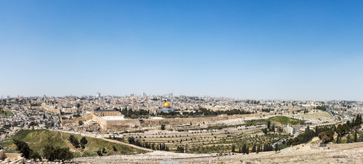 Aerial panorama of the Jerusalem Old City