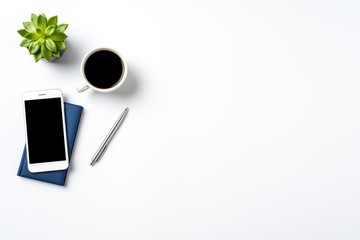 Office background with accessories