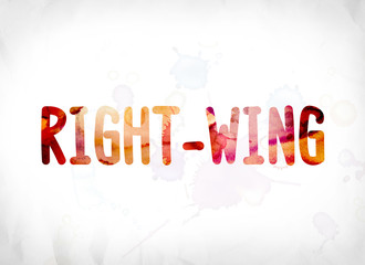 Right-Wing Concept Painted Watercolor Word Art