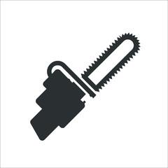 Fuel hand saw icon. Vector