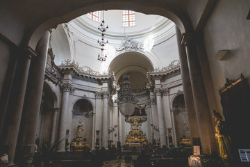Cathedral of Santa Agatha in Catania in Sicily, Italy.