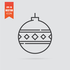 Christmas toy icon in flat style isolated on grey background.