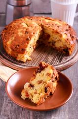 Pineapple and sultana cake,