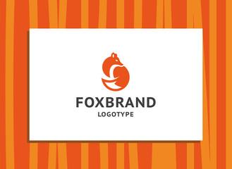 Fox brand - the orange fox logo, emblem, illustration in a minimalistic style