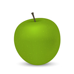 Realistic apple isolated on white background. Vector illustration