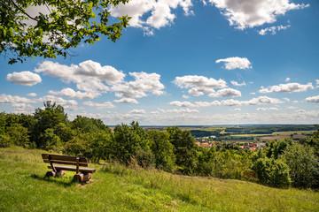 Landschaft Grabfeld in Thüringen
