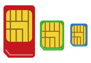 SIMカードのイラスト素材