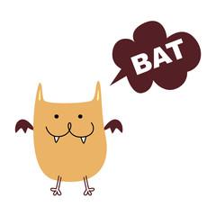 cite little brown bat vector