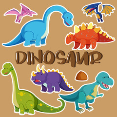 Different types of dinosaurs