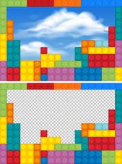 Border templates with colorful blocks