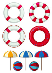 Safety rings and other beach elements