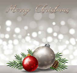 Background design with gray and red ornaments