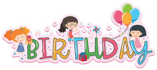 Word design for birthday