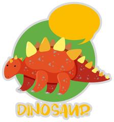 Sticker design with stegosaurus