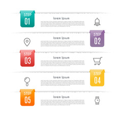 Infographic design vector and marketing icons can be used for workflow layout, diagram, annual report, web design. Business concept with 4 options, steps or processes