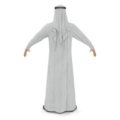 Arab man isolated on white. 3D illustration