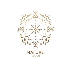 Logo sacred abstract nature