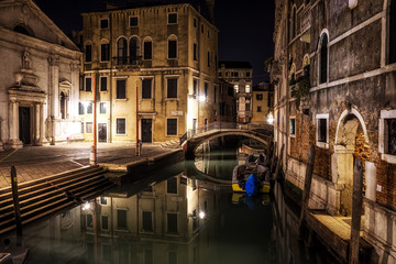 Aluminium Prints Venice Canal by Santa Maria Formosa