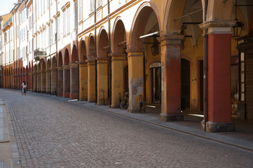 A typical porch in Modena