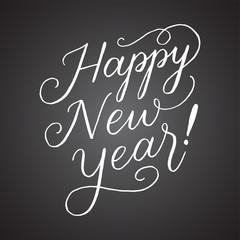 Chalkboard Happy New Year Hand Lettering