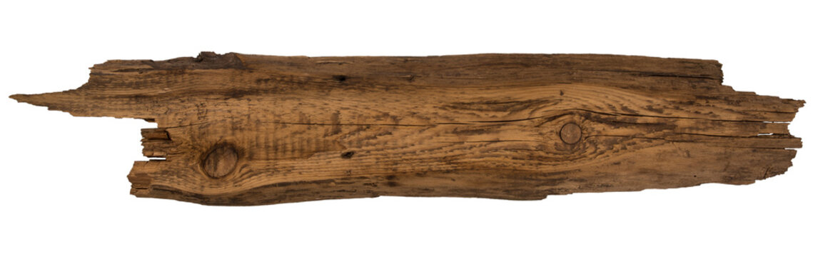 Old planks isolated on white.