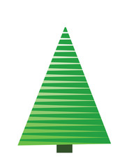 Christmas Tree on white background. Vector illustration