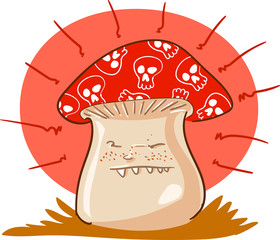 poisonous mushroom cartoon