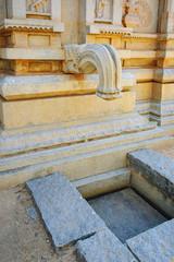 Fototapete - Drainage in the wall for water in Hazara Rama Temple in Hampi, Karnataka, India.