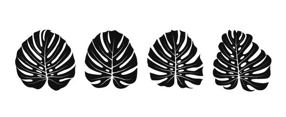 Monstera Leaves Silhouettes
