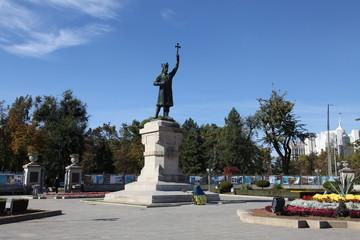 Monument Stefan cel Mare in Chisinau, Moldova
