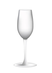 empty wine glass on white background, vector