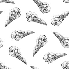 Seamless background with skulls.