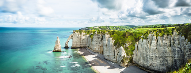 Panorama in Etretat France Normandie