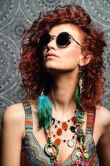 sunglasses earrings and beads
