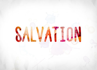 Salvation Concept Painted Watercolor Word Art