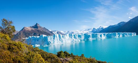 Panorama of glacier Perito Moreno in Patagonia