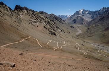 Alte Bergstraße in den Anden