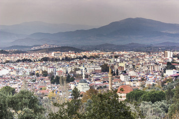 Panaromic city shot from the mountain