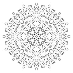 Mandala Shape for Coloring. Vector Mandala. Floral. Flower. Oriental. Book Page. Outline.