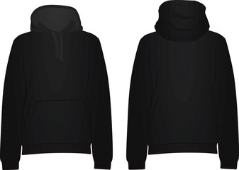 Black hoodie. vector illustration