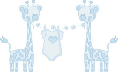 Blue baby boy giraffe