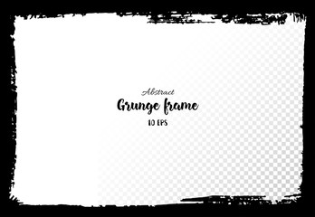 Grunge frame. Hand drawn textured design elements.