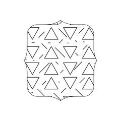 line quadrate with geometric graphic memphis background