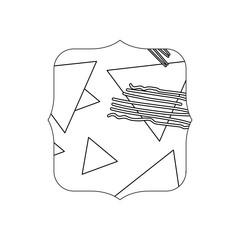 line quadrate with geometric figure stye background