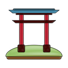 Chinese portal symbol icon vector illustration graphic design