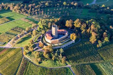 aerial view of castle Steinsberg near Sinsheim - Kraichgau - Germany