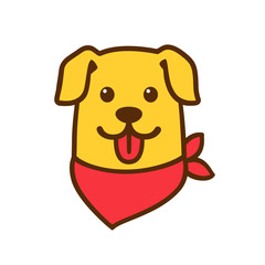Cute cartoon dog head