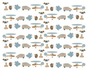 Child toy seamless pattern. Design element (Vector illustration).ai10
