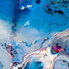 Blue glacier like terrain or paint spill