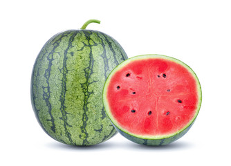 watermelon on white background. with clipping path